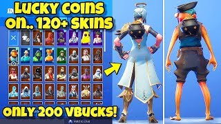 "NEW ""LUCKY COINS"" BACK BLING Showcased With 120+ SKINS! Fortnite Battle Royale (LUCKY COINS COMBOS)"