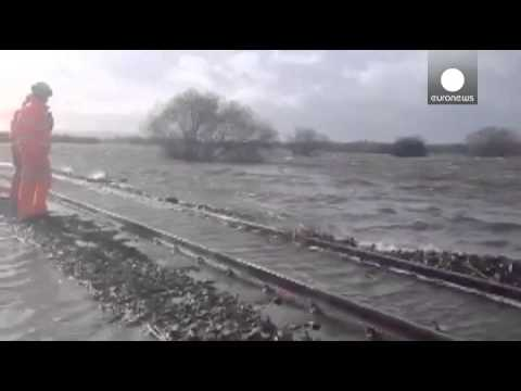 Severe weather batters Britain and Europe's Atlantic coast, Thames floods