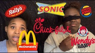 GUESS THAT FAST FOOD NUGGET CHALLENGE *IMPOSSIBLE BLINDFOLDED*