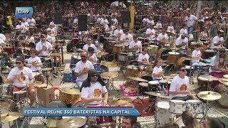 festival reúne 350 bateristas tocando juntos na capital