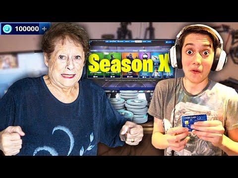 Kid Spends £1000 in Fortnite Season 10 Item Shop on Crazy Grandma's Credit Card!