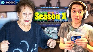 Kid Spends £1000 in Fortnite Season 10 Item Shop on Crazy Grandma's Credit Card!