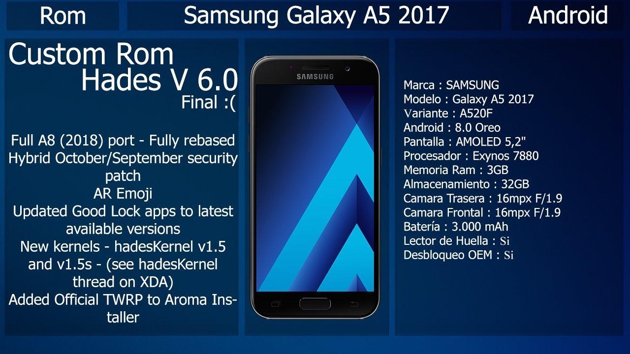 Rom Hades V6 0 - Samsung Galaxy A5 / A7 2017