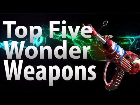 TOP 5 Wonder Weapons in Call of Duty 'Zombies' - Black Ops 2, Black Ops & World at War Zombies