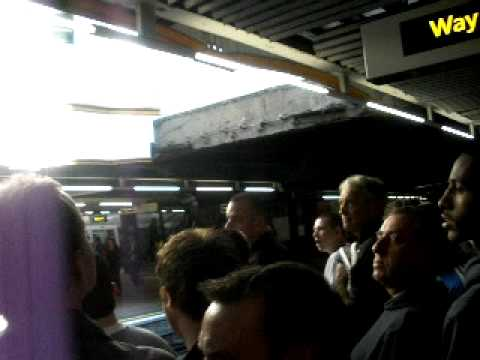 Chelsea Fans at Baker Street Tube Station
