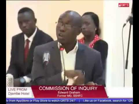 Former MD Of SSHFC Edward Graham Testifies At The Commission Of Enquiry