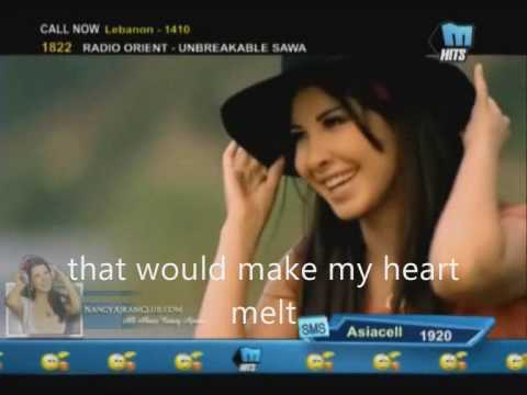 Nancy Ajram-Ehsas jdeed with english subtitles