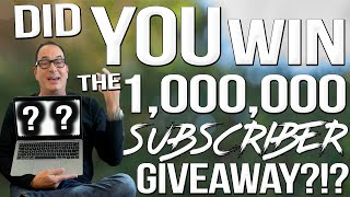 You Won't Believe Who Won the 1,000,000 Subscriber Giveaway.... | SAM THE COOKING GUY 4K
