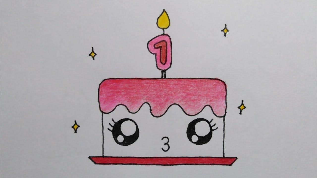 สอนวาดรูปเค้กวันเกิดน่ารักเก๋ไก๋ |How to draw cute Cake DailyArtTheraphy #093 @MySkyChannel