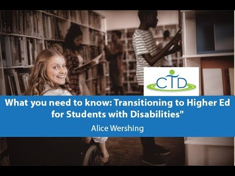 What You Need to Know: Transitioning to Higher Ed for Students with Disabilities