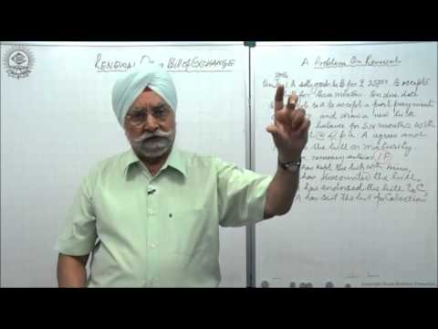 Recording of Bills of Exchanged on renewal of bill and imp. terms _Cl XI AC by Dr. Balbir Singh