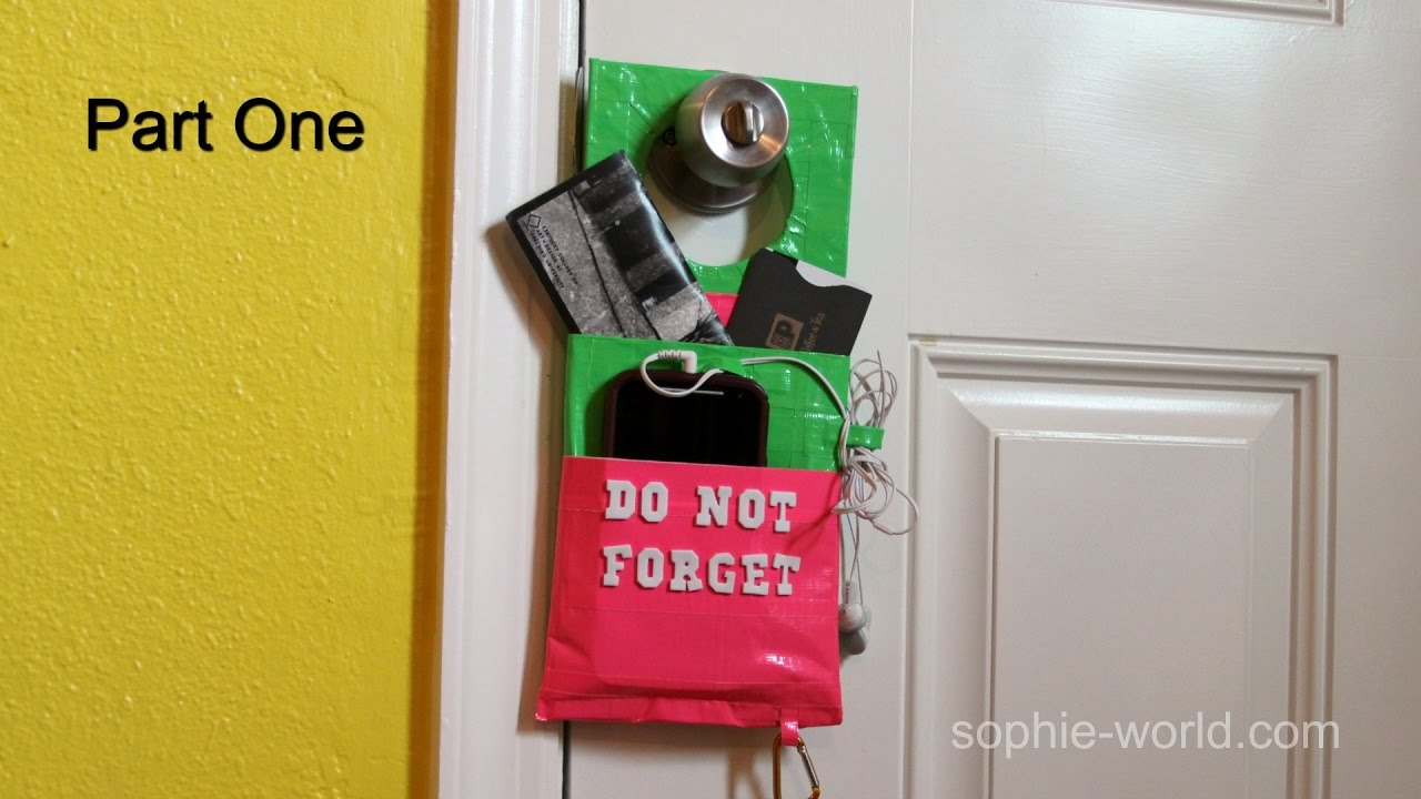 How to Make a Duct Tape Door Knob Organizer - Part 1 | Sophie\'s ...