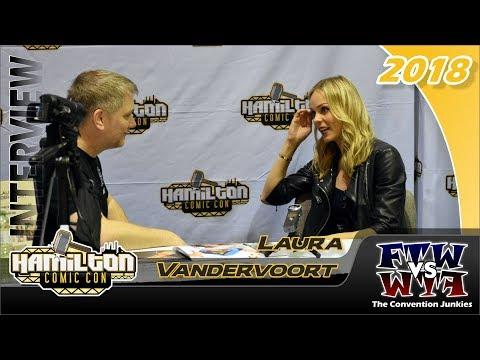 Laura Vandervoort Interview (Bitten, Supergirl, Smallville) Hamilton Comic Con 2018