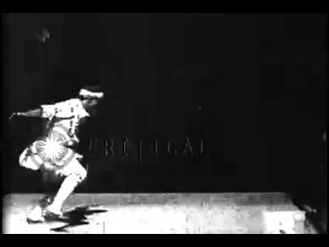 Hadji Cheriff, Arabian performer, is photographed performing acrobatic maneuvers, October 6, 1894.