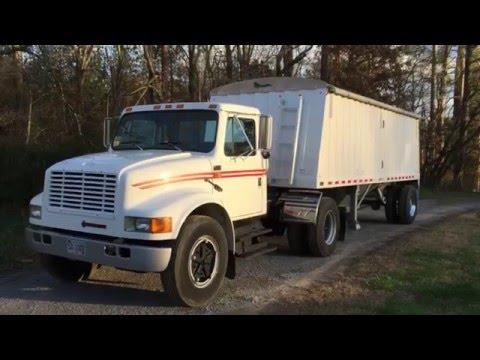 For Sale IH Truck and Hopper Bottom Grain Trailer