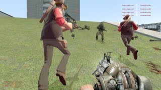 TF2 Snipers vs Combine Snipers (and Commanders) | Garry's Mod