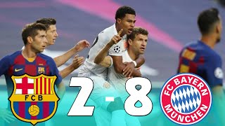 Fc barcelona vs bayern munich 2-8 champions league channel barcel...