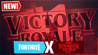 NEW FORTNITE MONSTER CONNECTED TO FORTNITE X STRANGER THINGS COLLAB NEW STRANGER THINGS SKINS COMING