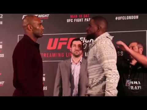UFC Fight Night London Jimi Manuwa vs. Corey Anderson media day face off
