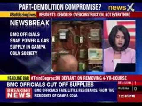 BMC officials reach Campa Cola housing society to cut electricity supply