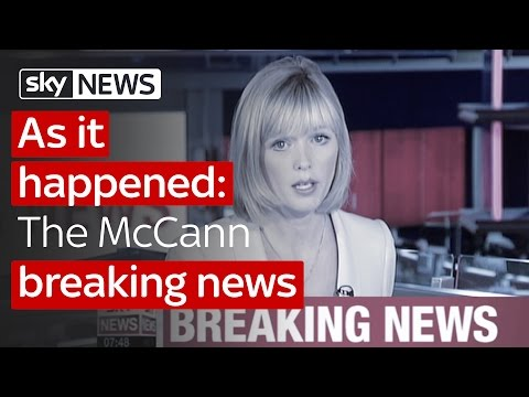 Madeleine McCann: The original breaking news
