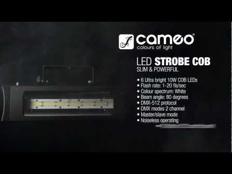 Cameo Light STROBE2 - EXTREMELY POWERFUL with 6 x 10 W WHITE COB LEDS