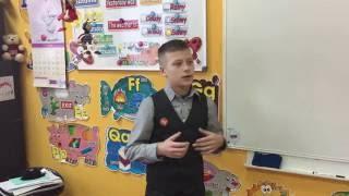 Пересказ текста на английском языке. Урок в 5 классе. Коля Лукьянов.