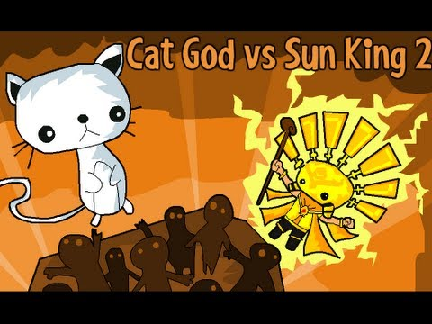 Cat God vs Sun King 2 Level1-5 Walkthrough