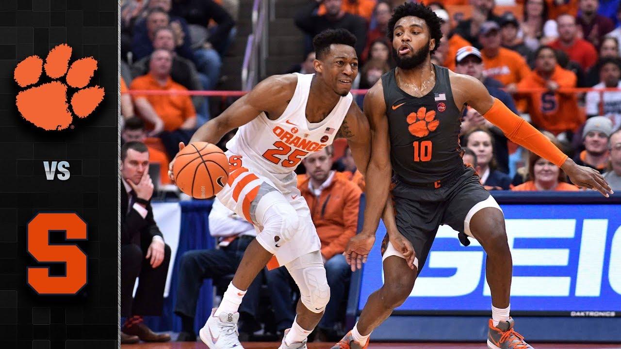 Clemson Vs Syracuse Basketball Highlights 2017 18 Youtube