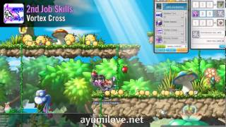 Ayumilove MapleStory Jett 1st, 2nd, 3rd and 4th Job Skill & Hyper Skills 2014 (GMS v.152)