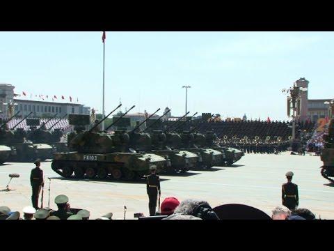 Défilé militaire à Pékin pour saluer la victoire de 1945