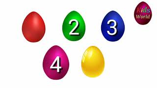 #KidsWorld#LearnColor/Learn Color with Coloring Eggs And Toys