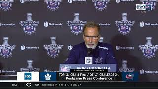 John Tortorella expects no hangover after Blue Jackets' epic Game 3 OT win | STANLEY CUP PLAYOFFS