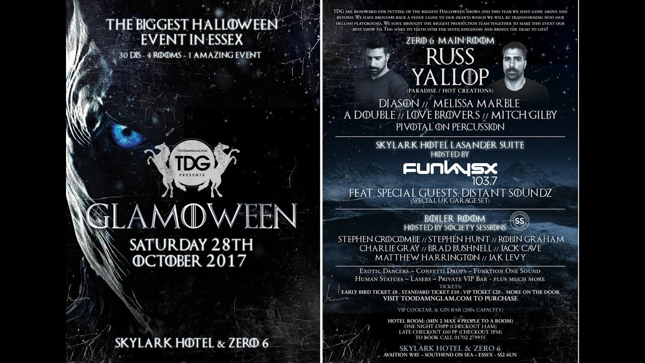 Funky Essex FunkySX hosts the Lacander event suite GLAMOWEEN