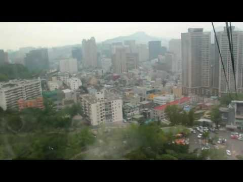 seoul namsan tower cable car tour