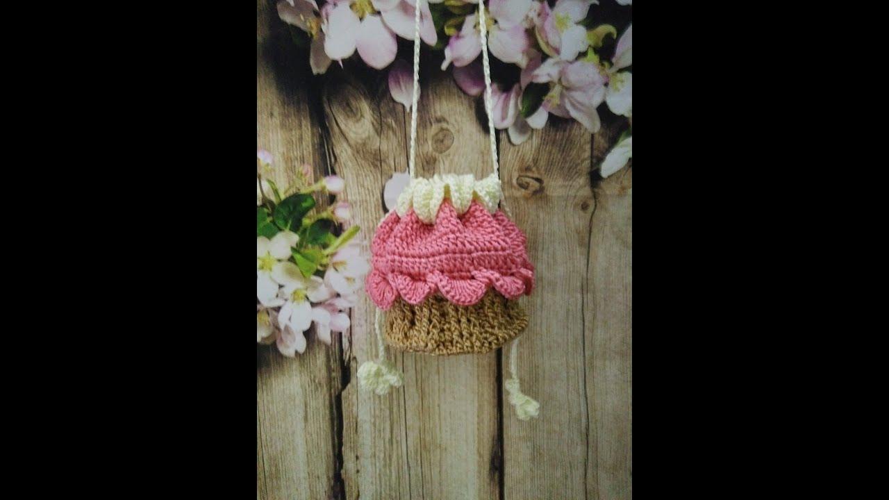 [Tet Project] Crochet cupcake bag for girl – [Dự án Tết] Móc túi xách hình bánh kem cho bé gái