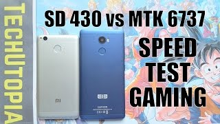 Snapdragon 430 vs MTK6737 Speed test/Gaming/Comparison(Adreno 505 vs MALI T720)GPU battle/CPU