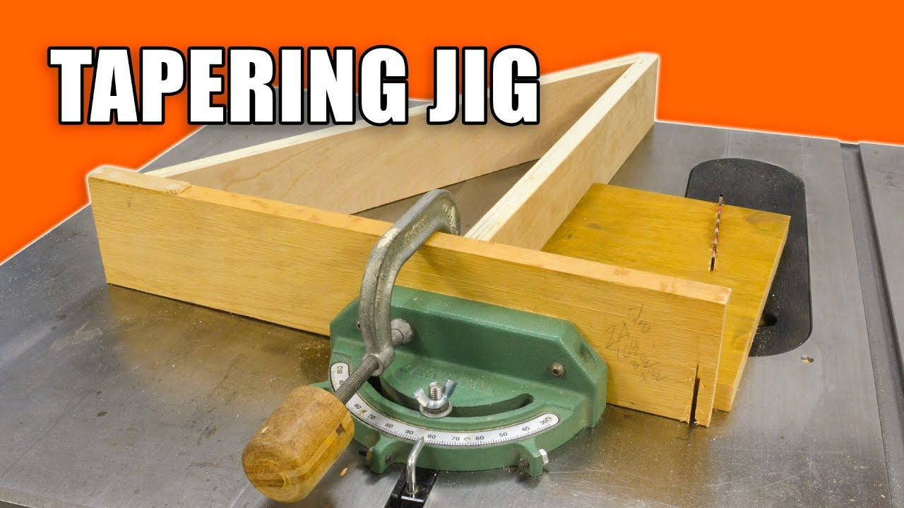 make a mitre gauge tapering jig for the table saw