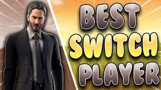 Fortnite Best Nintendo Switch Player! LATE NIGHT GRIND! NEW JOHN WICK SKIN!
