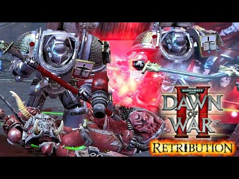 Grey Knights Paladins vs Chaos (Word Bearers) - Astartes Mod 2021 | WH40K Dawn of War 2: Retribution |