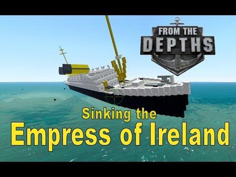 From the Depths! Sinking the Empress of Ireland (Minecraft Design)