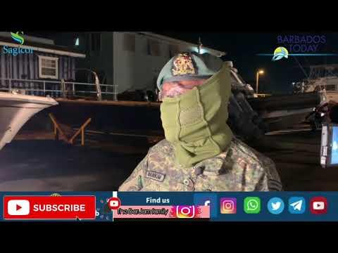 BARBADOS DEFENCE FORCE HAS ARRIVED IN ST VINCENT ST VINCENT