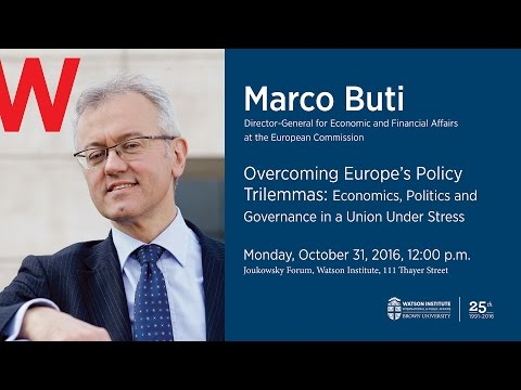 Marco Buti ─ Overcoming Europe's Policy Trilemmas in a Union Under Stress
