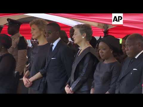 Mourners attend private burial for former UN chief following state funeral