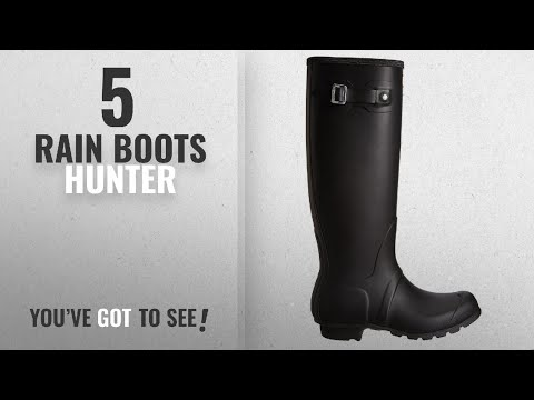 Top 5 Rain Boots Hunter [2018]: Hunter Women's Original Tall Black Rain Boots - 7 B(M) US