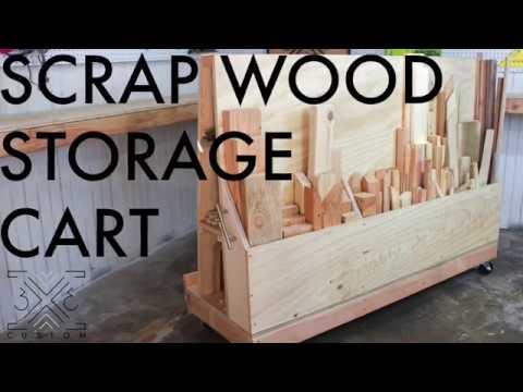Rolling Scrap Wood Storage Cart Youtube