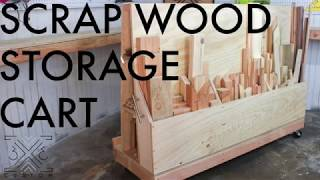 Rolling Scrap Wood Storage Cart