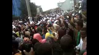 ethiopians Muslims protest in nur benin mosqs