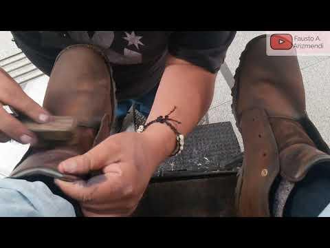 S2E44 Great shoe shine on nubuck pair of shoes  Mexico/Gran lustrada en zapatos de nubuck Mex ASMR