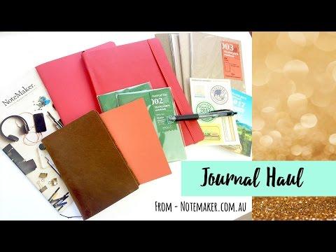 Journal Haul ~ Notemaker.com.au (Midor Traveler's Notebook, Bullet Journal) + + + LETS GET INKIE